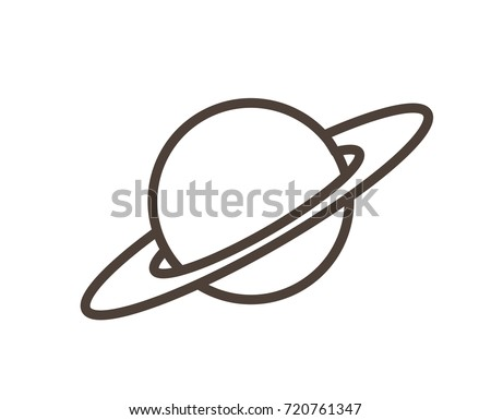 Cartoon Saturn Planet Vector Clipart