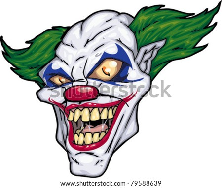 Cartoon Scary Clown