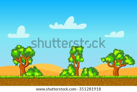 cartoon seamless horizontal