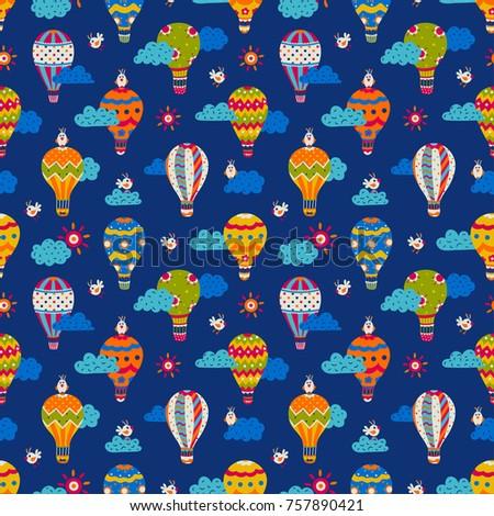 cartoon seamless pattern with