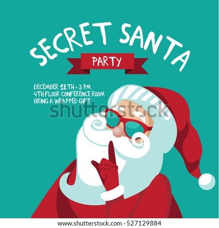 cartoon secret santa christmas