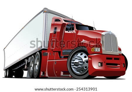 cartoon semi truck available