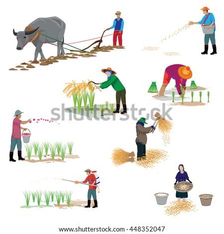 cartoon shape about farming