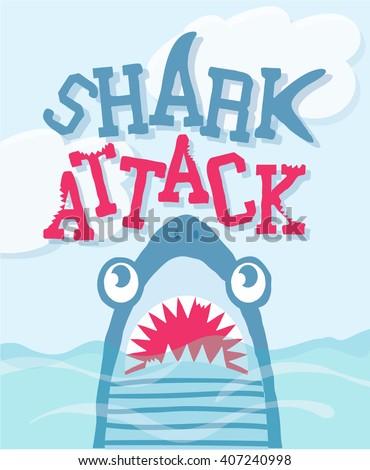 cartoon shark vector design