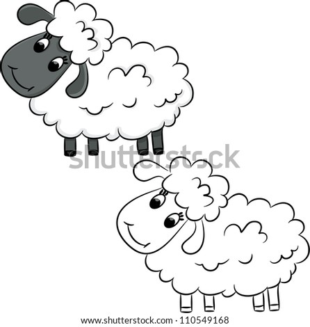 Books Cartoon Pic Cartoon Sheep Coloring Book