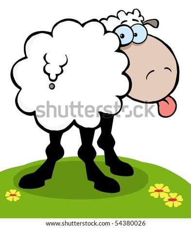 stock vector   cartoon sheep