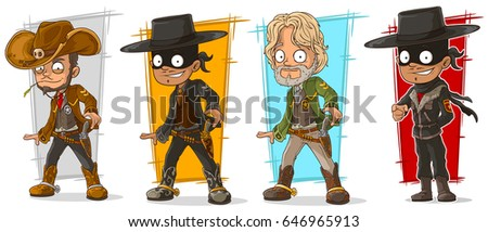 cartoon sheriff cowboy and