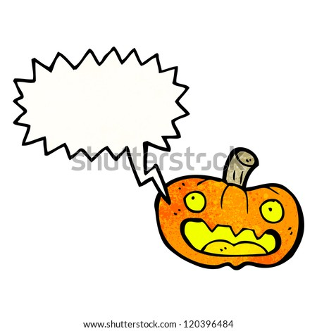 cartoon shrieking pumpkin