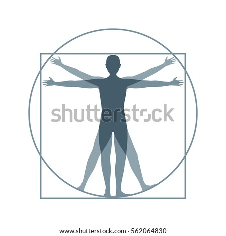 cartoon silhouette vitruvian