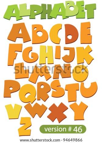 cartoon simple letters