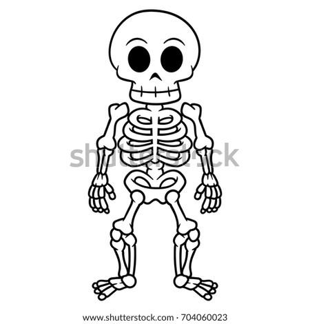 Cartoon Skeleton Foto stock ©