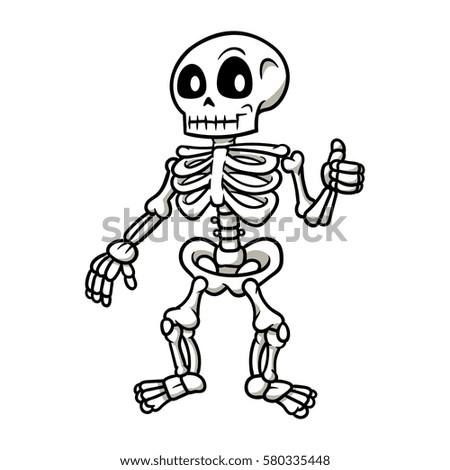 cartoon skeleton giving a