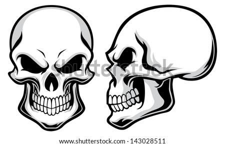 Stock Vector Cartoon Skulls