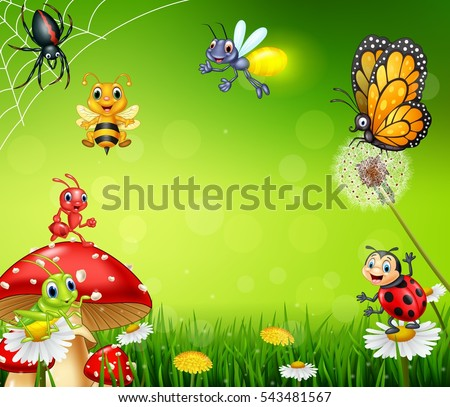 cartoon small insect with