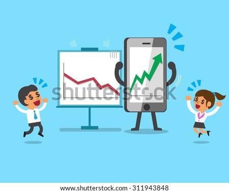 cartoon smartphone make