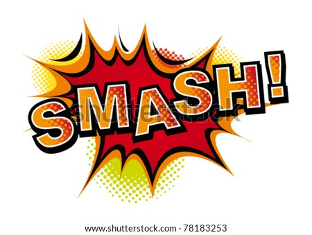 Cartoon-SMASH. Vector