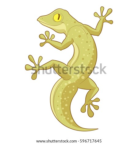 cartoon smiling gecko