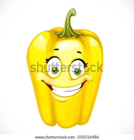 cartoon smiling yellow sweet