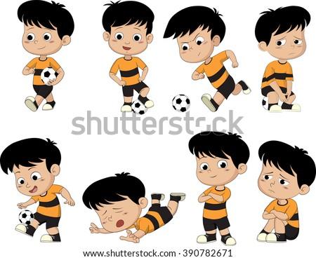 cartoon soccer kid with