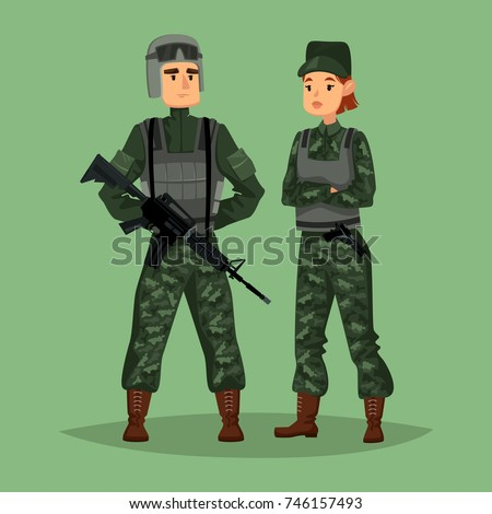 cartoon soldiers with weapon or