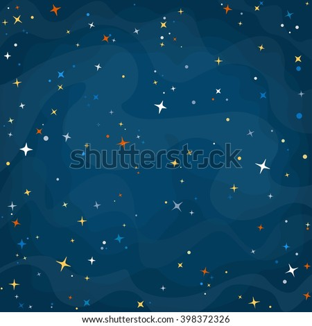 cartoon space background with