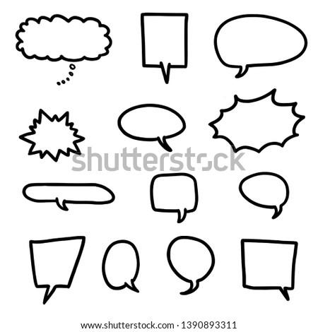 Cartoon speech bubble set - vector illustration elements.