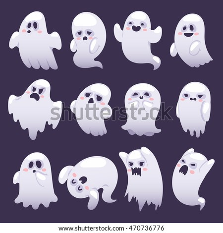 cartoon spooky ghost character