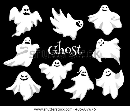 cartoon spooky ghost character