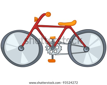 cartoon sport object bicycle