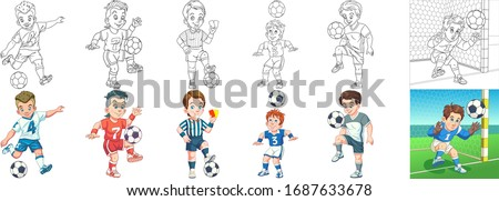 cartoon sports clipart set for