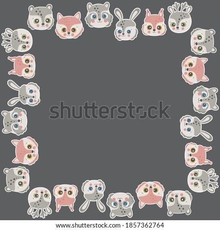 cartoon square frame for text
