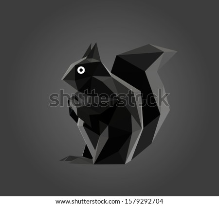 cartoon squirrel in black and