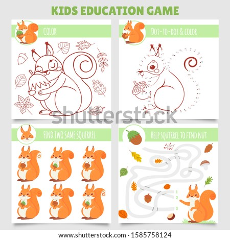 cartoon squirrel kids games