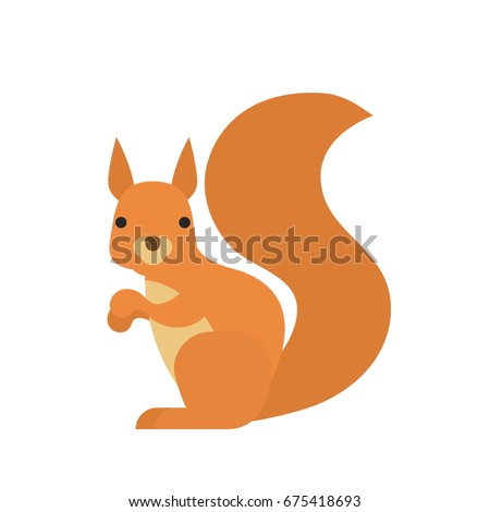 cartoon squirrel on white background