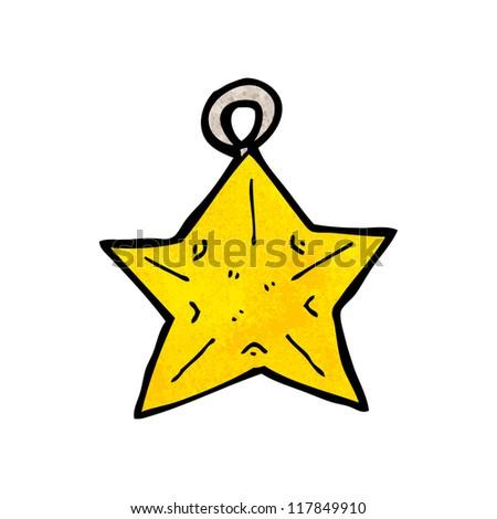 cartoon star shaped christmas Christmas Tree Shape With Star