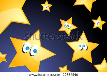 stock vector : Cartoon stars