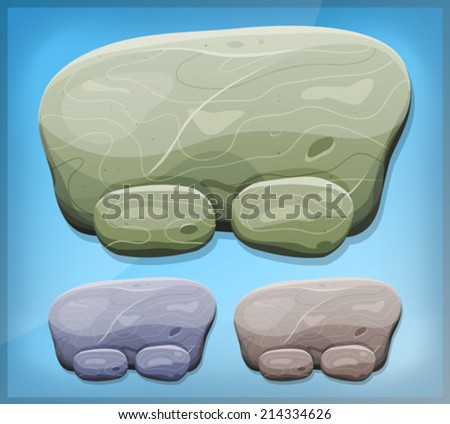 cartoon stone sign for ui game