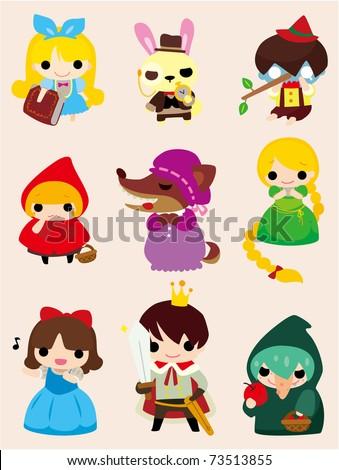 cartoon story people  icon