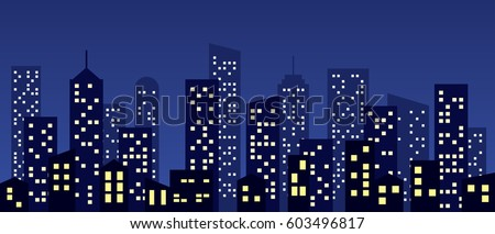 cartoon style city buildings