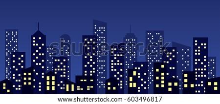 cartoon style city buildings