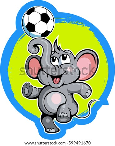 cartoon style little elephant