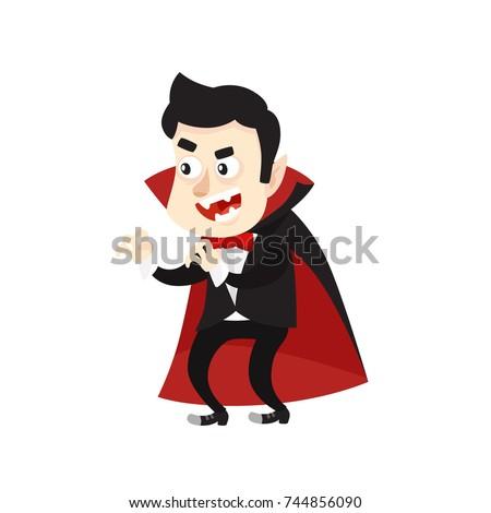 cartoon style vampire dracula