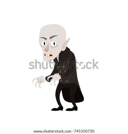 cartoon style vampire nosferatu