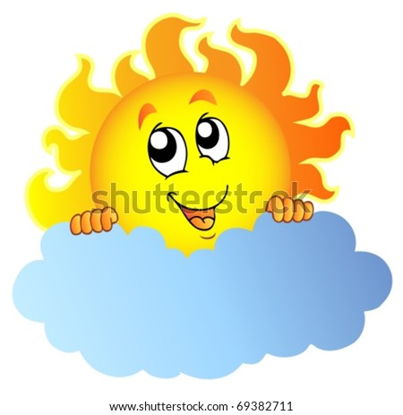cartoon sun rays. stock vector : Cartoon Sun