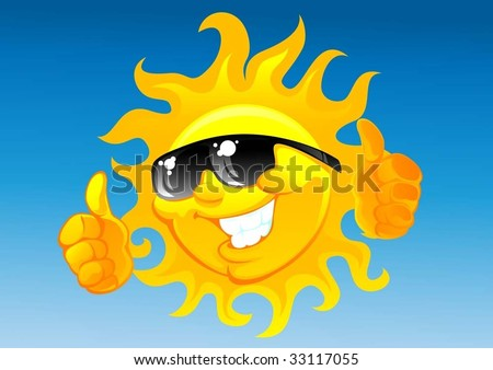 clipart sunglasses. clip art sun with sunglasses.
