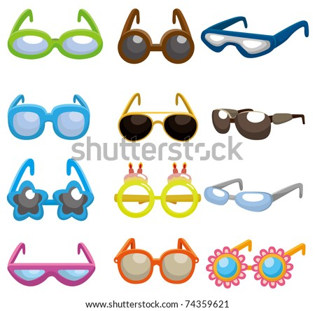how to draw cartoon sunglasses. stock vector : cartoon