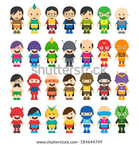 cartoon super hero character pack