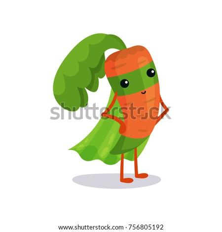 cartoon superhero carrot