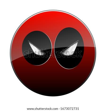 cartoon superhero mask icon