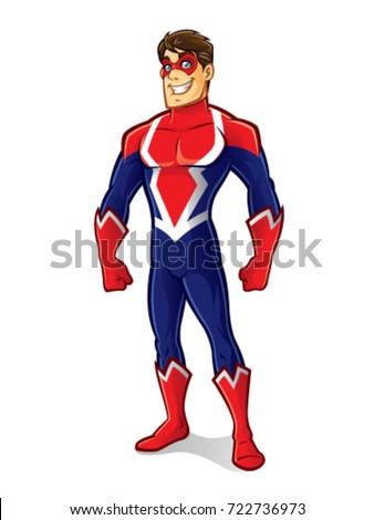 cartoon superhero wearing a